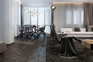 parquet gris fonce combine de marbre noir meubles et With parquet foncé salon