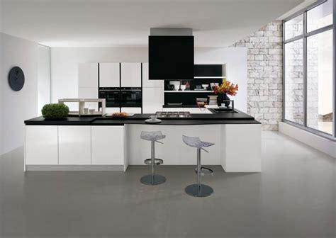 cuisine blanche design cuisine en u