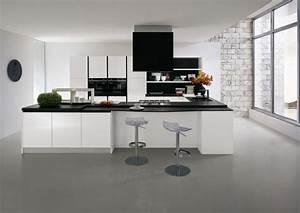la cuisine blanche le blog des cuisines With cuisine noire et blanche