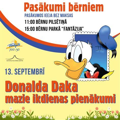 Bērnu pilsētiņās viesosies Donalds Daks - Ventspils ...