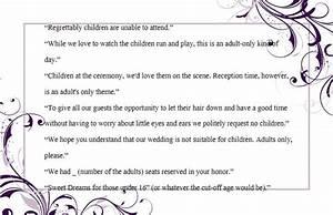 wedding invitation wording no children how to and With wedding invitations wording with child