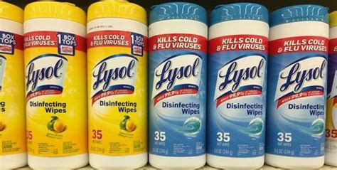 Lysol Wipes, Disinfecting Spray and Toilet Cleaners Just