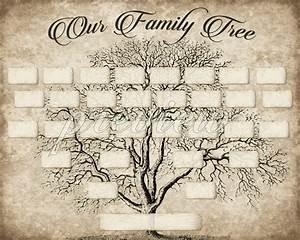 Free Genealogy Family Tree Charts Custom Family Tree Printable 5 Generation Template Instant
