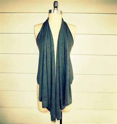 wobisobi draped shirt vest diy - Draped Vest