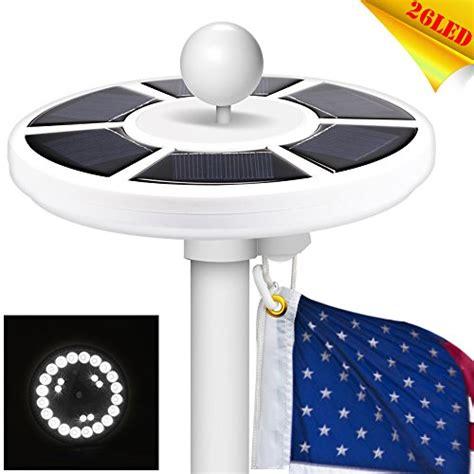 solar light for flag solar flag pole light 26 led waterproof 15 25ft flag