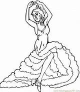 Flamenco Coloring Pages Dancers Dancer Drawing Colouring Spain Sevilla Coloringpages101 Dancing Getdrawings sketch template
