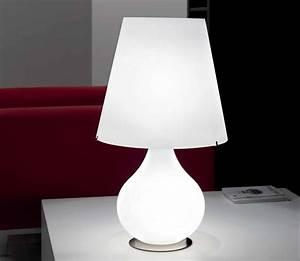 Lampe De Chevet Dorée : lampe de chevet forever en verre souffl blanc selene ~ Dailycaller-alerts.com Idées de Décoration