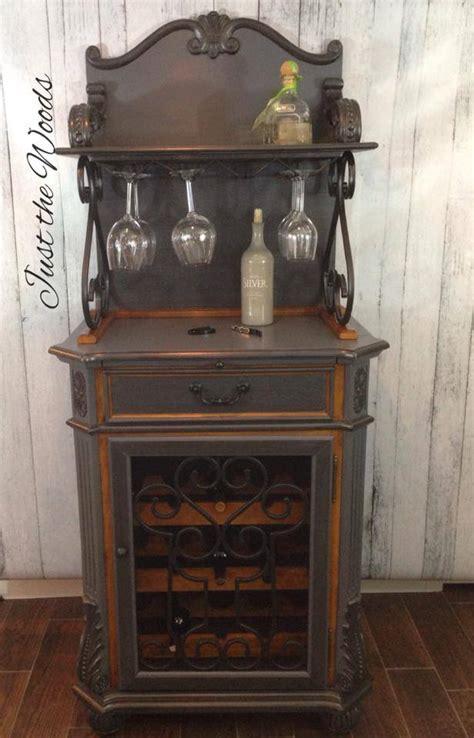 hometalk custom wine cabinet