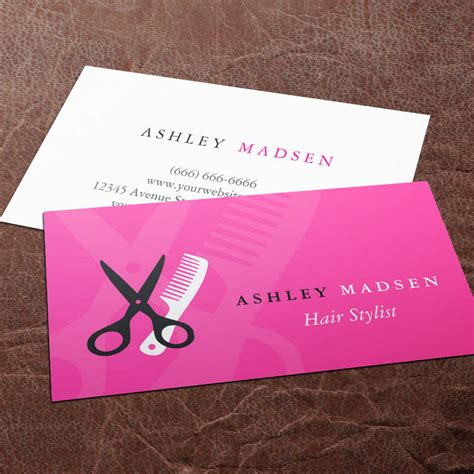 Maybe you would like to learn more about one of these? Hair Salon Hairstylist - Cute Girly Pink Business Card Template