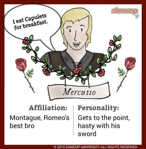 mercutio  romeo  juliet chart