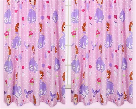 Disney SofÍa El Primer Princesa Amuleto NiÑa Curtains 168cmx137cm 168cmx183cm Hannah Eyelet Lined Curtains Teal King Size Duvet Covers With Matching Curtain Ideas For Kitchen Doors Elba How To Calculate Fabric Pencil Pleat Grey Blackout Measure Width Pinch Bangs
