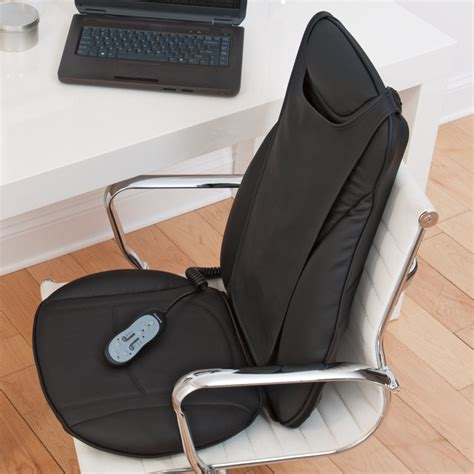 shiatsu seat topper relieves back tension with heat and