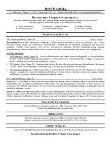 landscape management resume sles exle landscape architect resume free sle