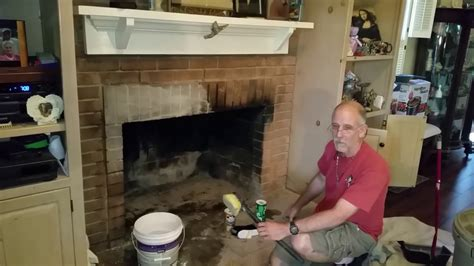 clean creosotes  brick fireplace hack youtube