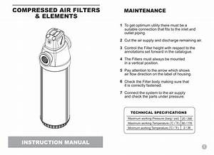 Gx Series User Manual For Cartridge Style Element Filters