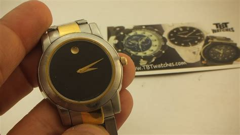How to change a battery on a Movado watch Part 1 - YouTube