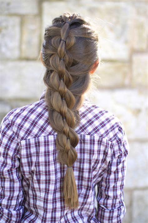 Pull Through Mermaid Braid Cute Girls Hairstyles