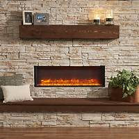 "built in electric fireplace GreatCo 44"" Linear Built In Electric Fireplace 
