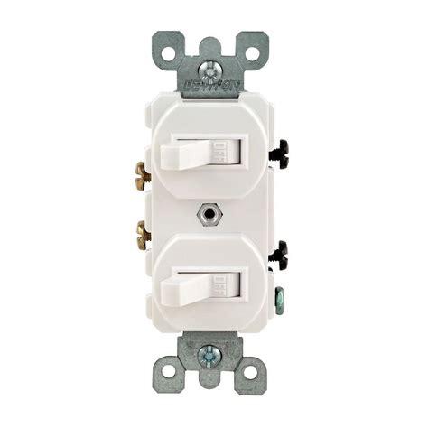 Leviton Amp Combination Double Rocker Switch White