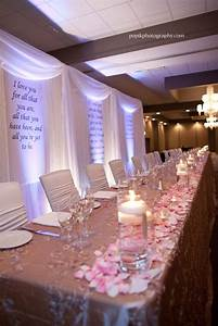 wedding head table decorations With wedding party table ideas