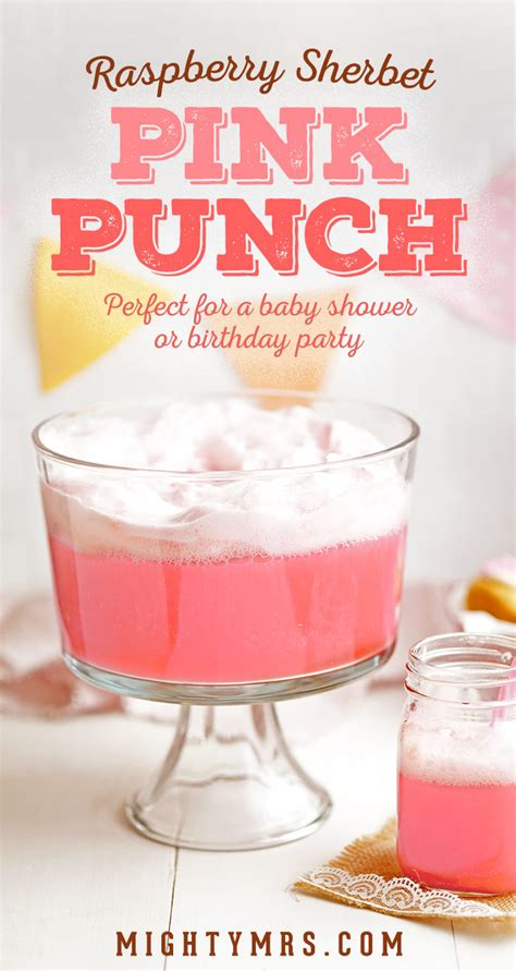 Pink Punch For Baby Shower - frothy pink punch mighty mrs