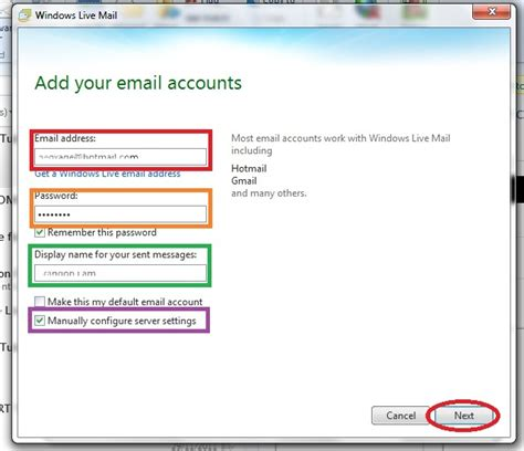 how do i add an email account to my iphone how to setup email accounts in windows live mail