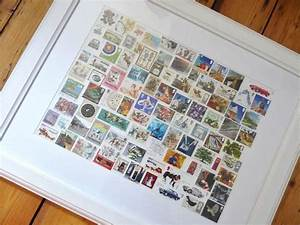 35 best images about stamp collection display on pinterest With kitchen colors with white cabinets with postage stamp wall art