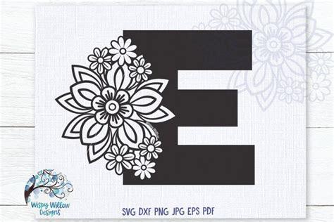 floral letter  svg cut file  monogram  flowers svg