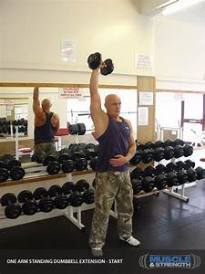 One Arm Standing Dumbbell Extension Video Exercise Guide