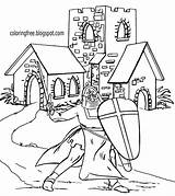 Coloring Pages Drawing Medieval Church Printable Knight Outline Ages Dark King Castle Simple Arthur Landscape Camelot Building Getdrawings Table Draw sketch template