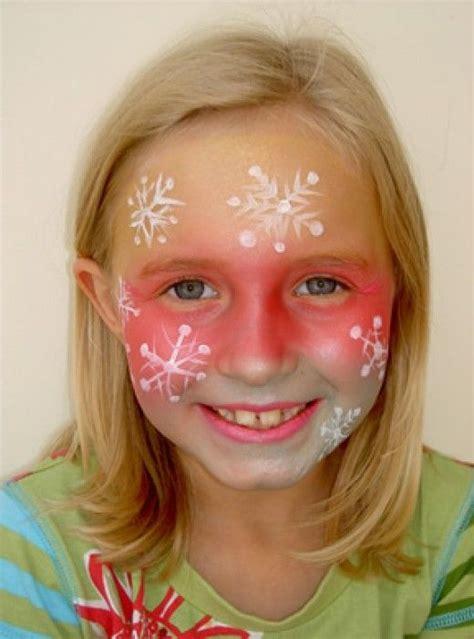 google christmas makeup snowflake painting ideas and designs paint frozen paint