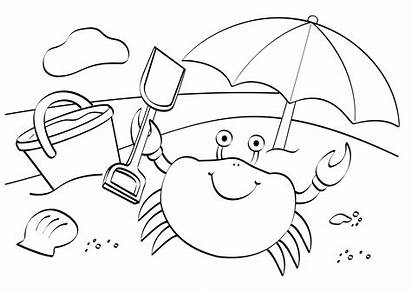 Colouring Seaside Beach Pdf Coloring Pages Activity