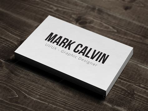 simple individual business card  business card
