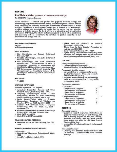 resume biotech phd