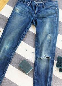 DIY Perfectly Distressed Jeans - Say Yes