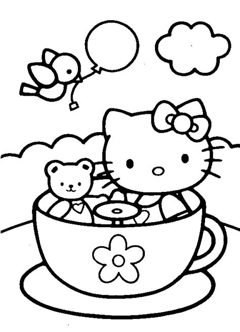 kitty coloring pages coloring pages  print