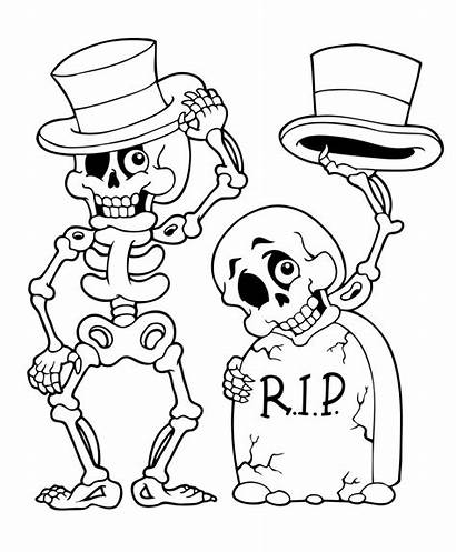 Halloween Coloring Pages Ausmalbilder Colouring Sheets Skeleton
