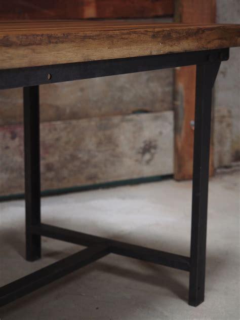 plateau bureau bois massif table ou bureau metal industriel militaire plateau bois massif