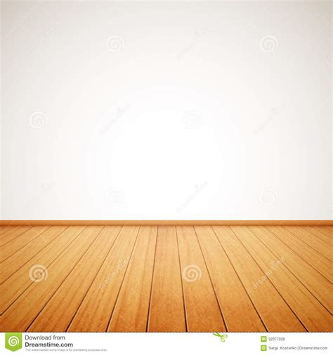 floor and de realistic wood floor and white wall stock vector image 32077028