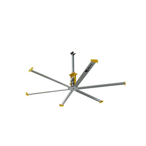big fans 4900 14 ft silver and yellow aluminum shop