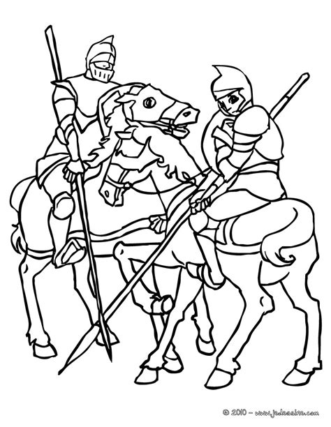 20 dessins de coloriage chevalier 224 imprimer
