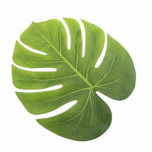 12pcs Artificial Tropical Palm Leaves Simulation Leaf For