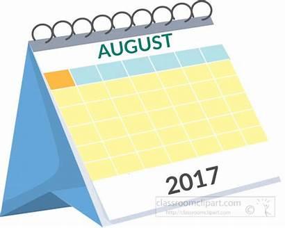 Calendar Clipart August September Desk Clip Calendars