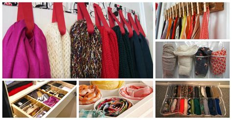 How To Organize Scarves In Your Closet by 14 Brilliant Ways Of How To Organize Scarves