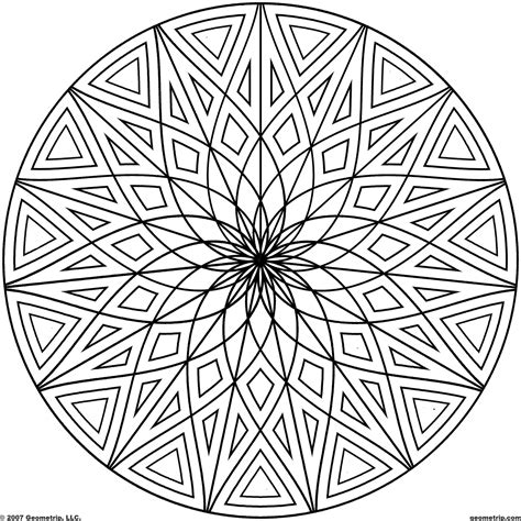 So what you see when you open a blank page is not a white canvas. 16 Cool Coloring Pages Of Designs Images - Cool Geometric ...
