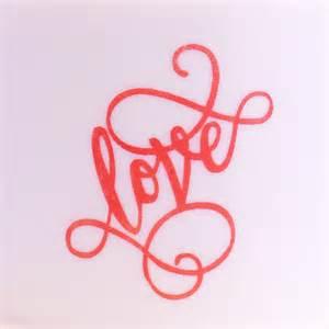 Love Calligraphy Mesh Stencil