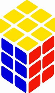 Rubik's Cube Simple clip art Free Vector / 4Vector