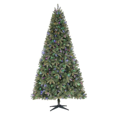 martha stewart 9 ft wimberly spruce quick set artificial christmas tree with 700 color choice