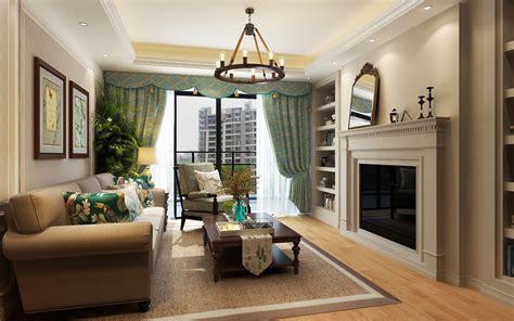 modern american style living room  model cgtrader