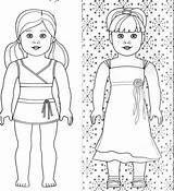 Coloring Doll Cartoon sketch template